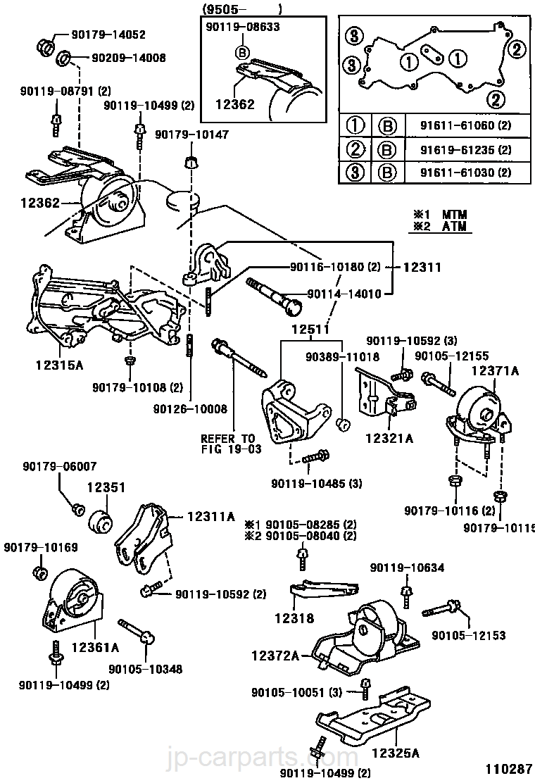 mounting toyota part list jp carparts com rh jp carparts com