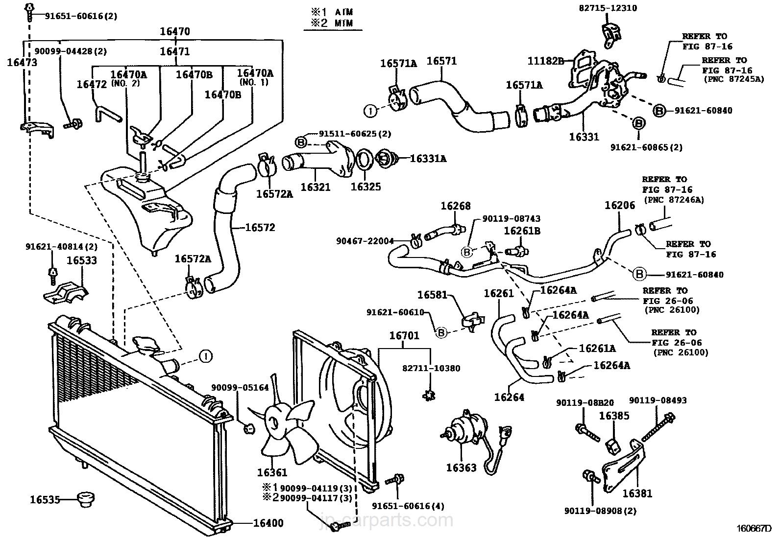 radiator water outlet toyota part list jp carparts com rh jp carparts com