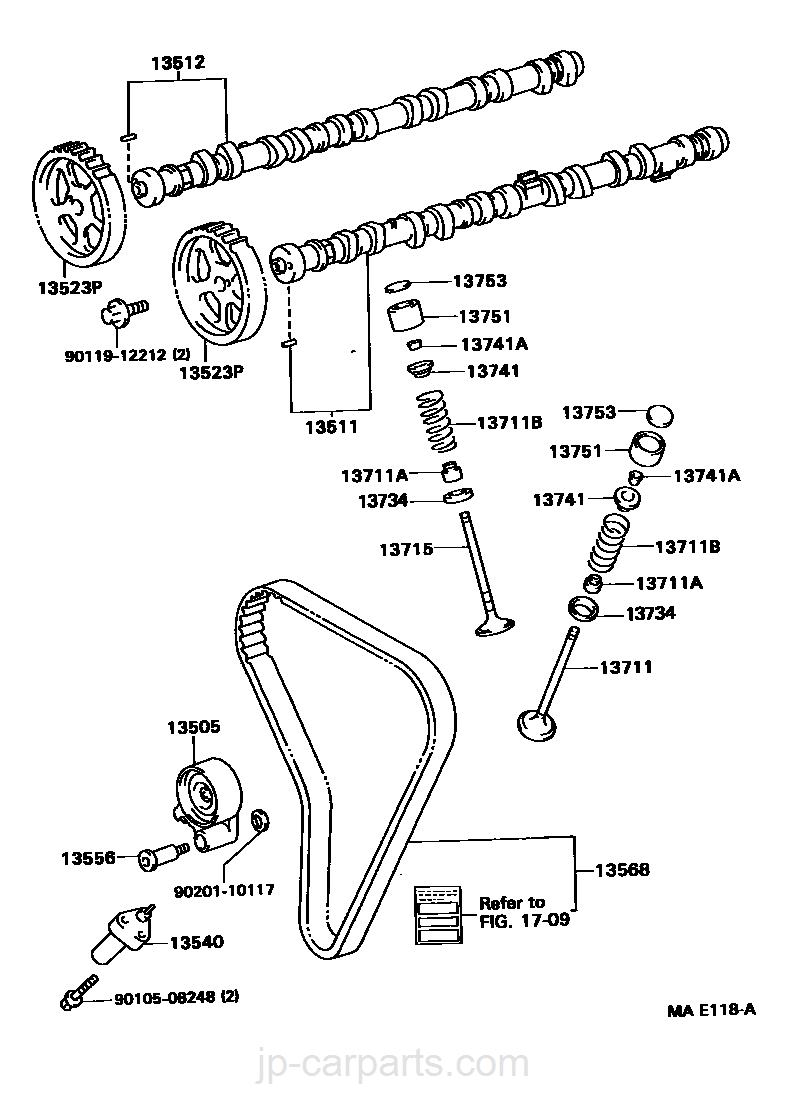 Camshaft Valve Toyota Part List 1jz Timing Belt Diagram Select Image Size
