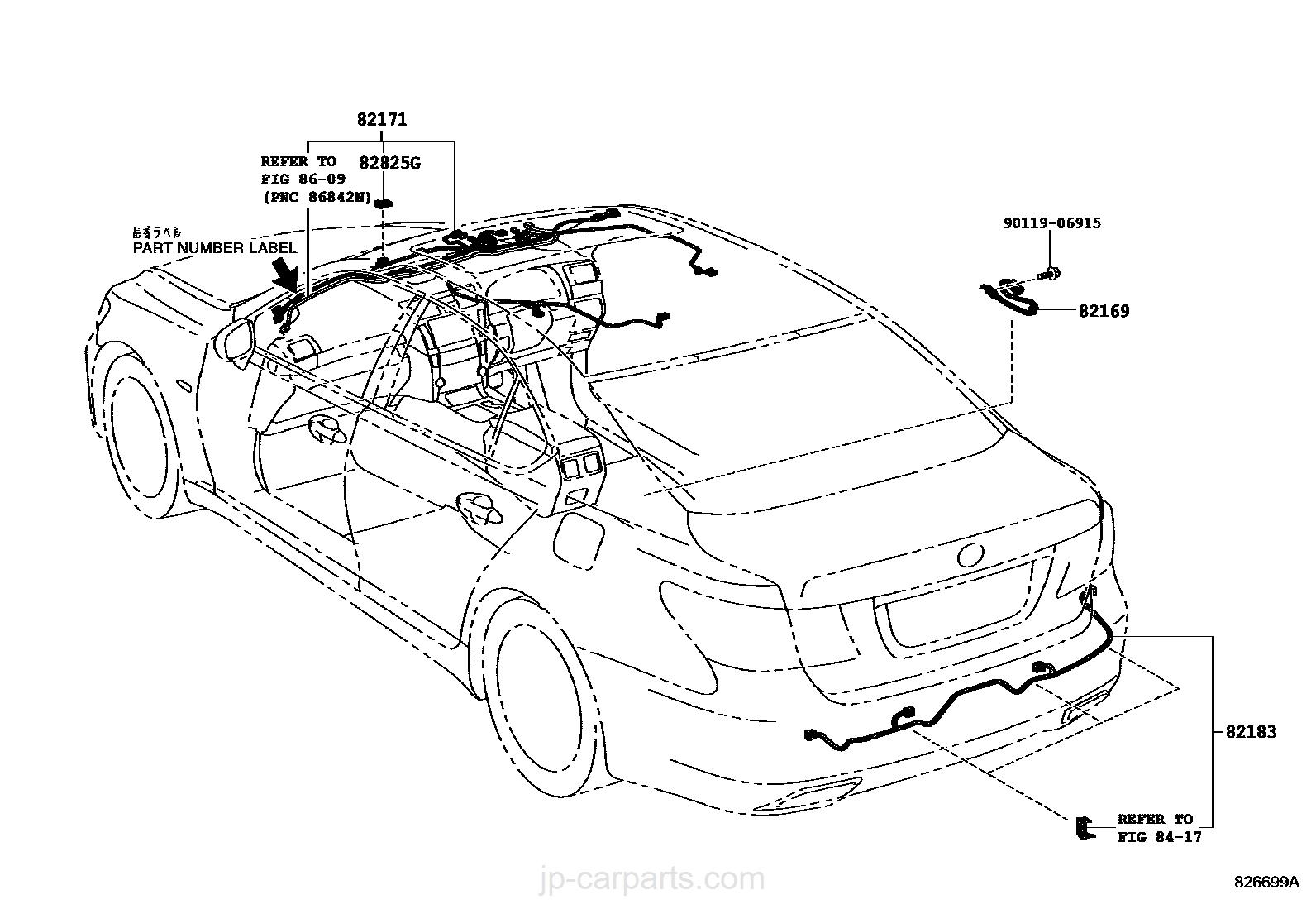 WIRING & CLAMP / lexus | part list|JP-CarParts.com