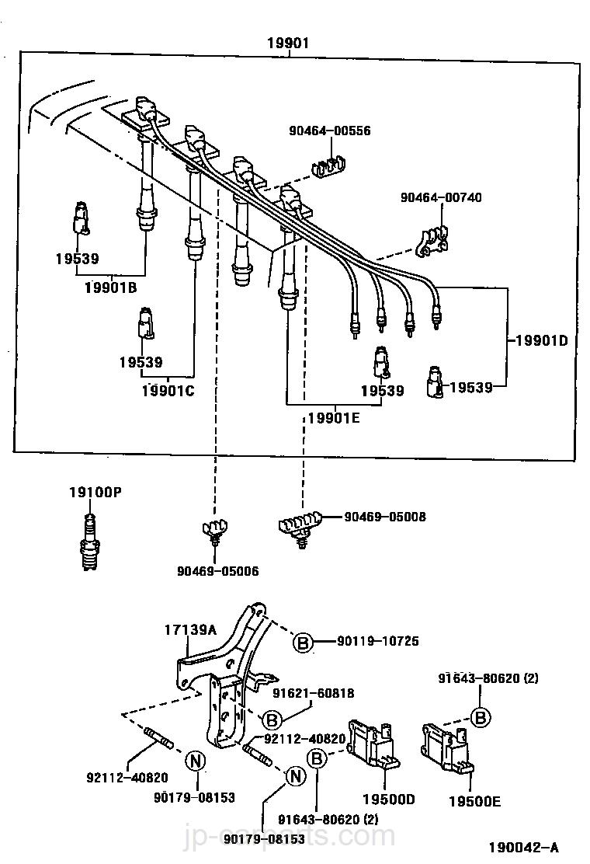 5sfe Ignition Coil And Spark Plug Diagram Schematic Diagrams Rodin Toyota Part Listjp Carparts Com 350z