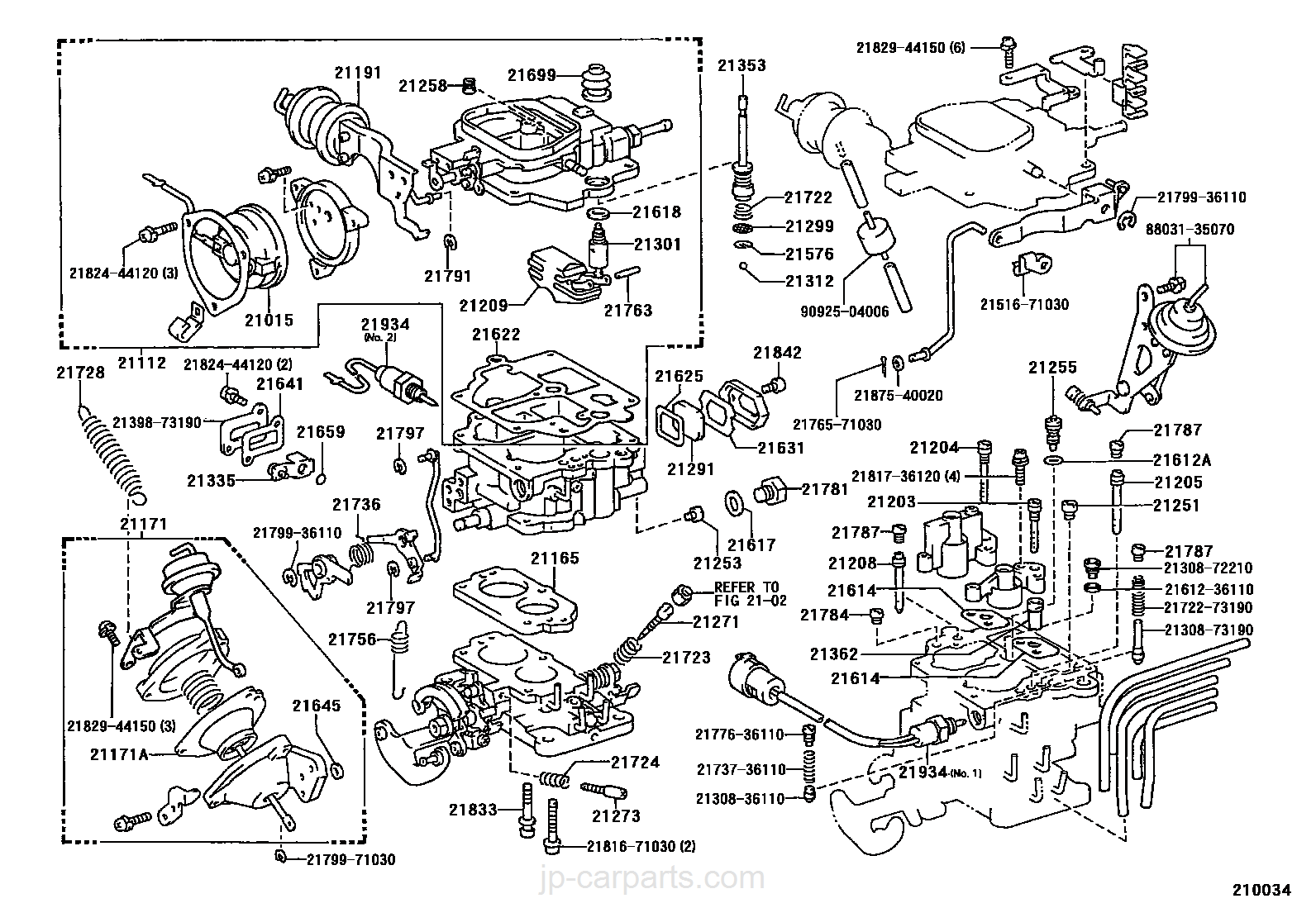 carburetor toyota part list jp carparts com rh jp carparts com toyota 2y engine repair manual pdf toyota 4y engine manual free