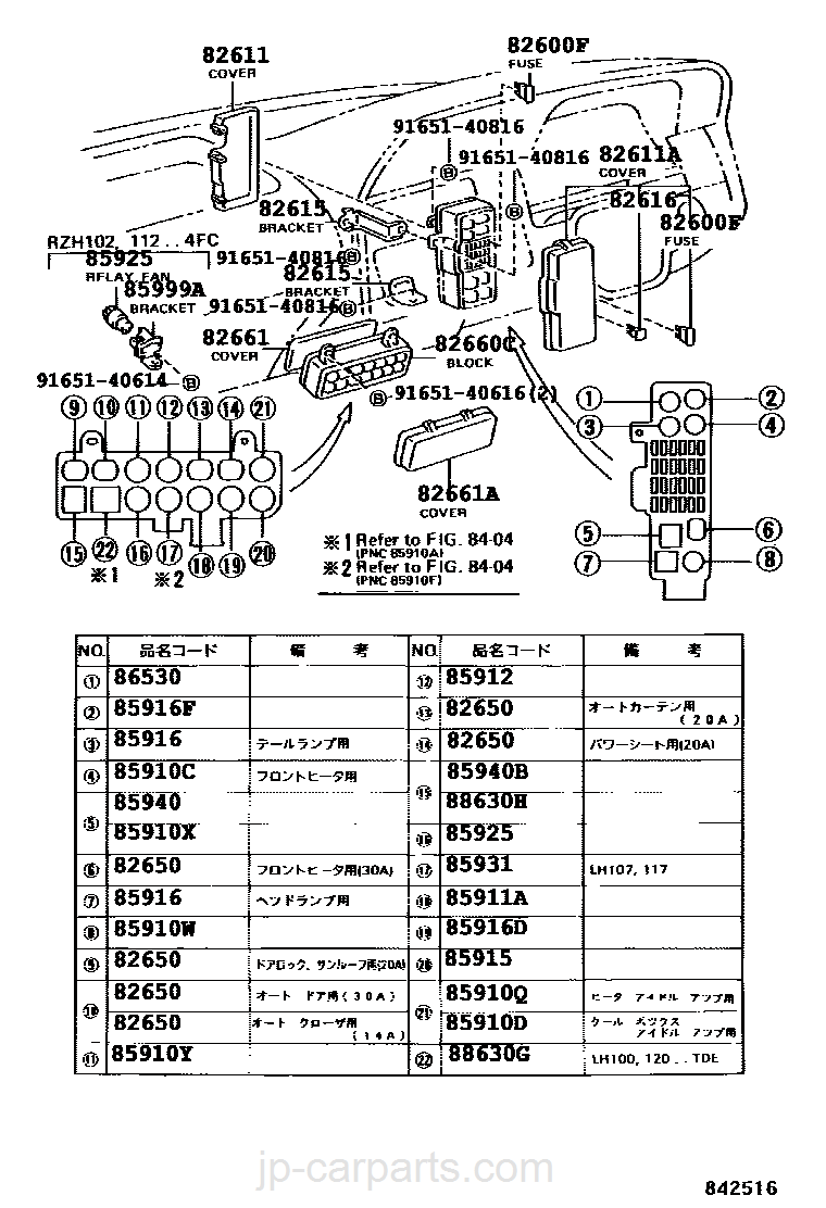 2006 Toyota Hiace Fuse Box Diagram : Fuse box for toyota hiace wiring library