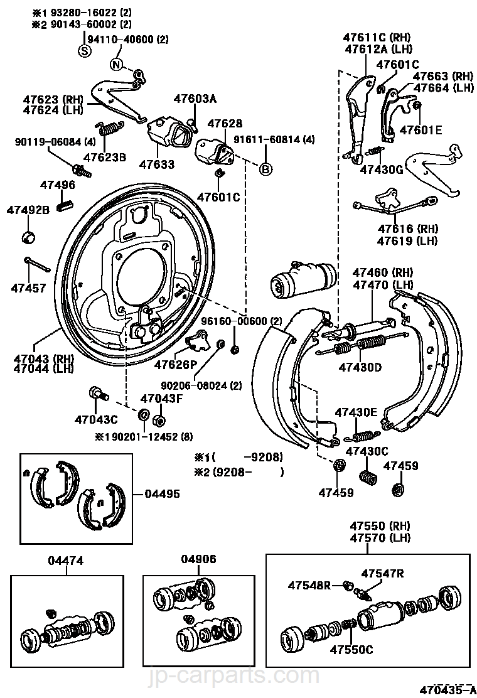 Rear Drum Brake Wheel Cylinder Amp Backing Plate Toyota